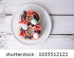 homemade cake in the shape of a ...   Shutterstock . vector #1035512122