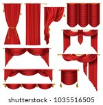 vector 3d realistic set of red...