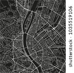 black and white vector city map ... | Shutterstock .eps vector #1035519106