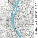 black and white vector city map ... | Shutterstock .eps vector #1035519112