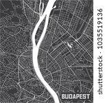 minimalistic budapest city map...   Shutterstock .eps vector #1035519136