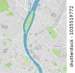vector city map of budapest... | Shutterstock .eps vector #1035519772