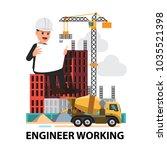 business engineer concept is... | Shutterstock .eps vector #1035521398