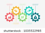 abstract business infographics... | Shutterstock .eps vector #1035522985