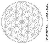 sacred geometry vector symbol ... | Shutterstock .eps vector #1035525682