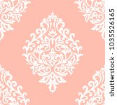 vector damask seamless pattern... | Shutterstock .eps vector #1035526165