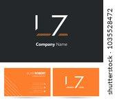 l   z joint logo stroke letter...   Shutterstock .eps vector #1035528472