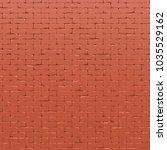 red brick wall texture 3d render | Shutterstock . vector #1035529162