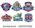 american football badge design   Shutterstock .eps vector #1035529306