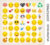 set of most popular emoticons.... | Shutterstock .eps vector #1035529882