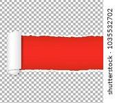torn red paper transparent...   Shutterstock .eps vector #1035532702