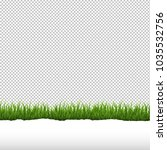 green grass and ripped paper... | Shutterstock .eps vector #1035532756