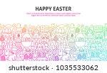happy easter concept. vector... | Shutterstock .eps vector #1035533062