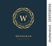 monogram design elements ...   Shutterstock .eps vector #1035538336