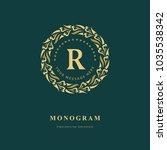 monogram design elements ...   Shutterstock .eps vector #1035538342