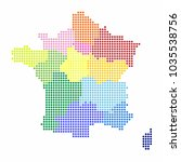 france map of circle shape with ... | Shutterstock .eps vector #1035538756