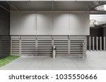 smoking area zone unidentified... | Shutterstock . vector #1035550666