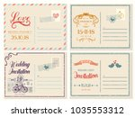 set of isolated vintage or... | Shutterstock .eps vector #1035553312