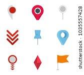 manifestation icons set. flat... | Shutterstock .eps vector #1035557428
