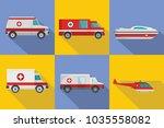 ambulance transport banner... | Shutterstock .eps vector #1035558082