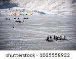 yaks expedition to the mount... | Shutterstock . vector #1035558922