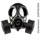 gas mask double filter on white ... | Shutterstock . vector #1035562306