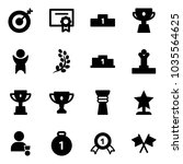 solid vector icon set   target... | Shutterstock .eps vector #1035564625