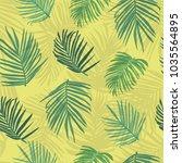 vector illustration tropical... | Shutterstock .eps vector #1035564895