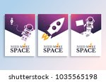 covers with astronaut ...   Shutterstock .eps vector #1035565198