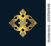 luxury logo ornament  vector... | Shutterstock .eps vector #1035565648