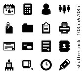solid vector icon set  ... | Shutterstock .eps vector #1035567085