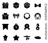 solid vector icon set   gift... | Shutterstock .eps vector #1035568912