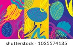creative doodle art header with ... | Shutterstock .eps vector #1035574135