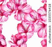 cherry blossom seamless pattern ... | Shutterstock . vector #1035576418