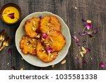 malpua   traditional indian... | Shutterstock . vector #1035581338