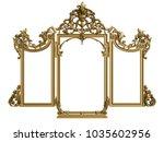 classic mirror frame on white... | Shutterstock . vector #1035602956