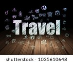 vacation concept  glowing text... | Shutterstock . vector #1035610648