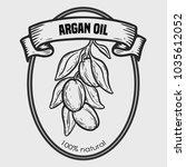 argan vector drawing  label nut ... | Shutterstock .eps vector #1035612052