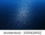 Blue Water Background And Sun...