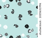 floral  seamless colorless ... | Shutterstock .eps vector #1035631996