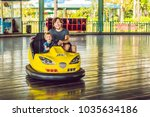 father and son having a ride in ... | Shutterstock . vector #1035634186