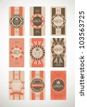 vintage label style with nine... | Shutterstock .eps vector #103563725
