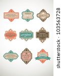 vintage label style with nine...   Shutterstock .eps vector #103563728