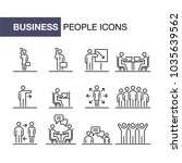business people icons set... | Shutterstock .eps vector #1035639562