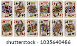 playing cards  classical style...   Shutterstock .eps vector #1035640486