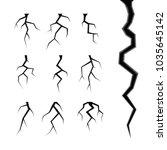 simple cracks vector set...   Shutterstock .eps vector #1035645142