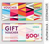 gift voucher template. vector... | Shutterstock .eps vector #1035646135