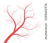 human veins  red blood vessels... | Shutterstock .eps vector #1035652576