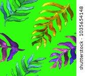 watercolor hand drawn summer... | Shutterstock . vector #1035654148