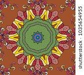 vector architectural muslim... | Shutterstock .eps vector #1035654955